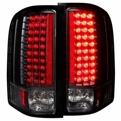 Anzo USA - Anzo USA 311081 Black LED Tail Light Set-Clear Lens