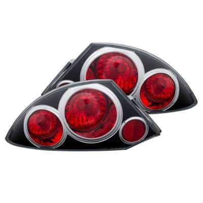 Anzo USA - Anzo USA 221081 Black Euro Tail Light Set-Clear Lens