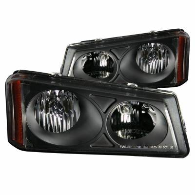 Anzo USA - Anzo USA 111009 Crystal Headlight Set-Black