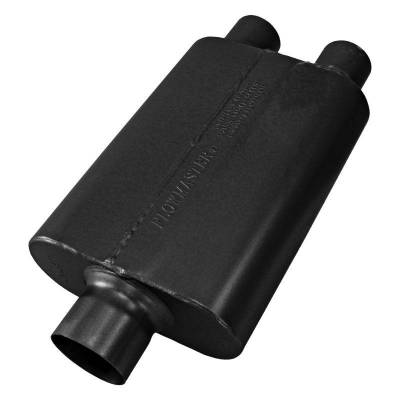 Flowmaster - Flowmaster 8430402 40 Series Delta Flow Muffler, Center/Dual; Stainless