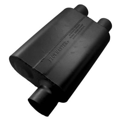 Flowmaster - Flowmaster 9430412 40 Series Delta Flow Muffler, Offset/Dual; Aluminized