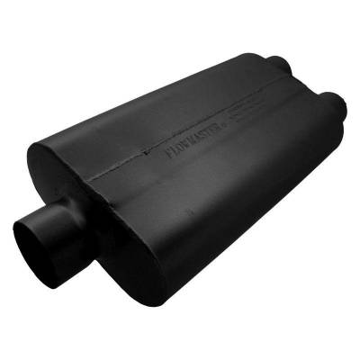 Flowmaster - Flowmaster 9430502 50 Series Delta Flow Muffler, Center/Dual; Aluminized