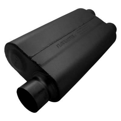 Flowmaster - Flowmaster 9430512 50 Series Delta Flow Muffler, Center/Dual; Aluminized