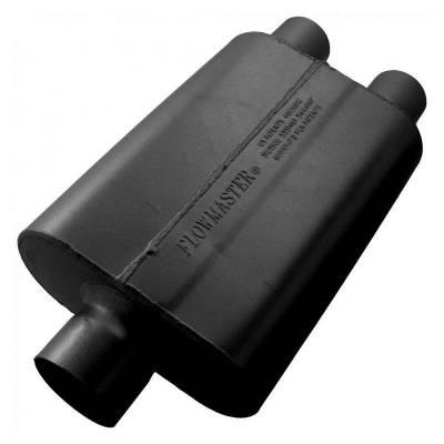 Flowmaster - Flowmaster 9430402 40 Series Delta Flow Muffler, Center/Dual; Aluminized
