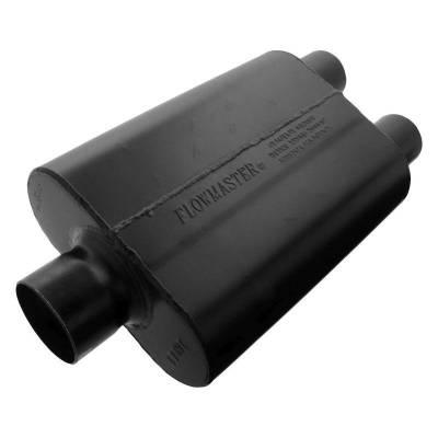 Flowmaster - Flowmaster 9430452 Super 44 Series Muffler, Center/Dual; Aluminized
