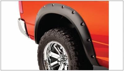 Bushwacker - Bushwacker 50038-02 Pocket Style Rear Fender Flares-Black