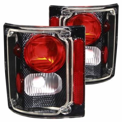 Anzo USA - Anzo USA 211015 Carbon Fiber Euro Tail Light Set-Clear Lens