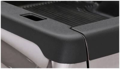 Bushwacker - Bushwacker 28508 Smoothback Side Bed Rail Caps w/ Holes-Black