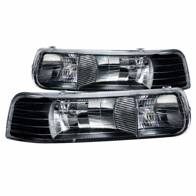 Anzo USA - Anzo USA 111155 Crystal Headlight Set-Black