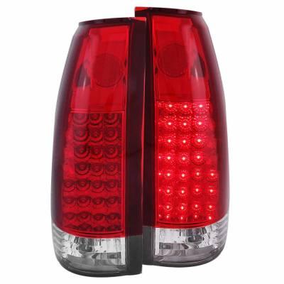 Anzo USA - Anzo USA 311004 Chrome LED Tail Light Set-Red/Clear Lens