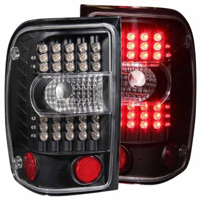 Anzo USA - Anzo USA 311107 Black LED Tail Light Set-Clear Lens
