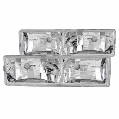 Anzo USA - Anzo USA 111136 Crystal Headlight Set-Chrome
