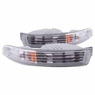 Anzo USA - Anzo USA 511020 Clear Lens Front Bumper/Turn Signal Light Set
