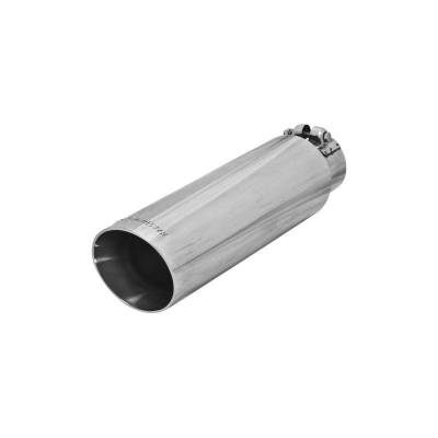 Flowmaster - Flowmaster 15397 Exhaust Pipe Tip Angle Cut Polished Stainless Steel