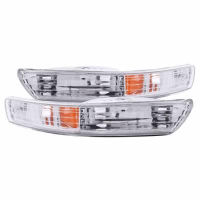 Anzo USA - Anzo USA 511021 Clear Lens Front Bumper/Turn Signal Light Set