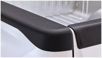 Bushwacker - Bushwacker 48518 Smoothback Side Bed Rail Caps w/o Holes-Black