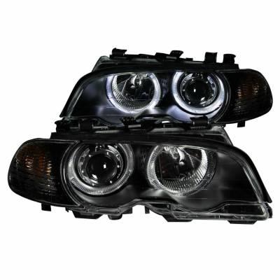Anzo USA - Anzo USA 121269 Projector Headlight Set w/ LED Halo-Black