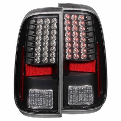 Anzo USA - Anzo USA 311127 Black LED Tail Light Set-Clear Lens