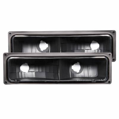 Anzo USA - Anzo USA 511053 Euro Clear Lens Front Turn Signal/Parking Lights-Black