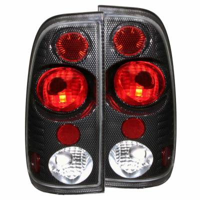 Anzo USA - Anzo USA 211064 Carbon Fiber Euro Tail Light Set-Clear Lens