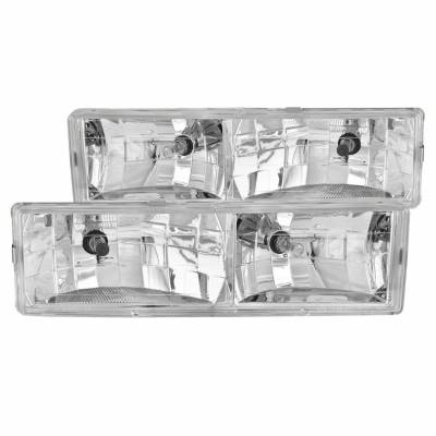 Anzo USA - Anzo USA 111004 Crystal Headlight Set-Chrome