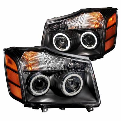 Anzo USA - Anzo USA 111095 Projector Headlight Set w/ CCFL Halo-Black