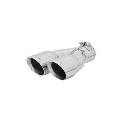 Flowmaster - Flowmaster 15389 Exhaust Pipe Tip Dual Angle Cut Polished Stainless Steel