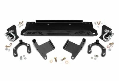 Rough Country Suspension Systems - Rough Country 1173 Factory Bumper Winch Mounting Plate w/ D-Rings