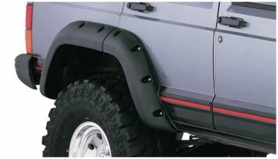 Bushwacker - Bushwacker 10036-07 Cut-Out Rear Fender Flares-Black