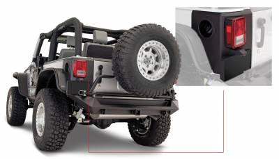Bushwacker - Bushwacker 14009 Trail Armor Rear Corner Guard Set-Black