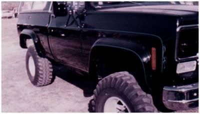 Bushwacker - Bushwacker 40003-11 Cut-Out Front Fender Flares-Black