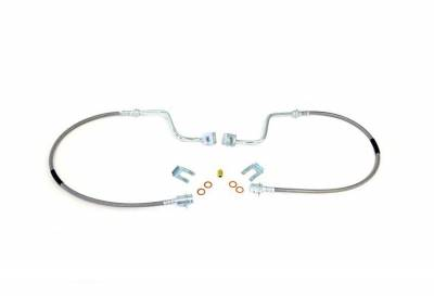 """Rough Country Suspension Systems - Rough Country 89705 Extended Stainless Steel Front Brake Lines 4-8"""" Lift"""