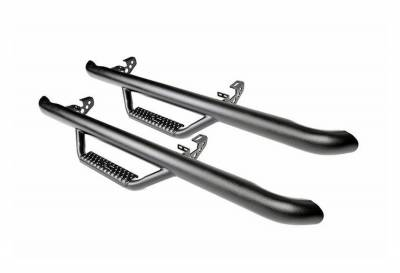 Rough Country Suspension Systems - Rough Country RCJ1246 Wheel to Wheel Nerf Step Bars Black