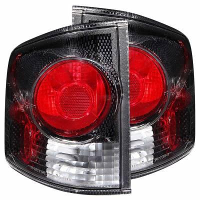 Anzo USA - Anzo USA 211033 Carbon Fiber Euro Tail Light Set-Clear Lens