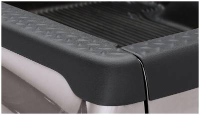 Bushwacker - Bushwacker 49504 Diamondback Side Bed Rail Caps w/o Holes-Black