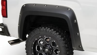 Bushwacker - Bushwacker 40122-02 Pocket Style Rear Fender Flares-Black