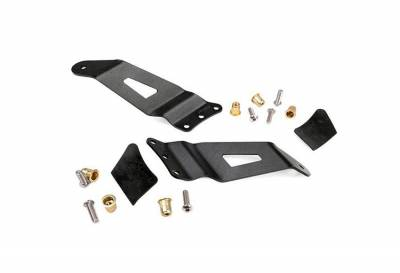 """Rough Country Suspension Systems - Rough Country 70521 50"""" Curved LED Light Bar Windshield Mounting Brackets"""