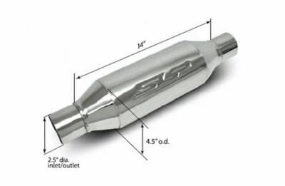 """SLP Performance - SLP Performance 310013818 2.5"""" Inlet/Outlet LoudMouth II Muffler, Each"""