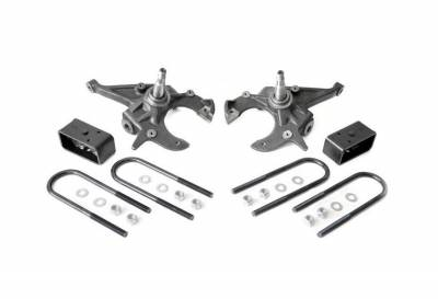 """Rough Country Suspension Systems - Rough Country 724 2.0""""[F]/2.5""""[R] Suspension Lowering Kit"""