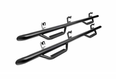 Rough Country Suspension Systems - Rough Country RCF9984CC Cab Length Nerf Step Bars Black