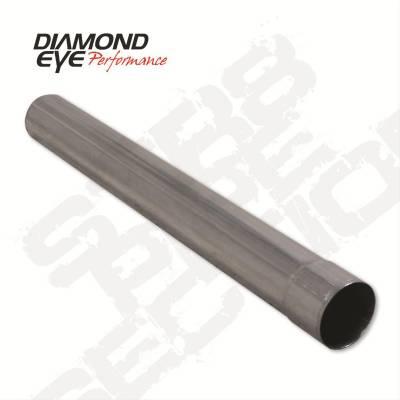 "Diamond Eye - Diamond Eye 420048 Straight 4"" I.d. X 4"" O.d. X 48"" Long 409 Stainless Steel"