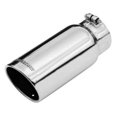 Flowmaster - Flowmaster 15368 Exhaust Pipe Tip Rolled Angle Polished Stainless Steel