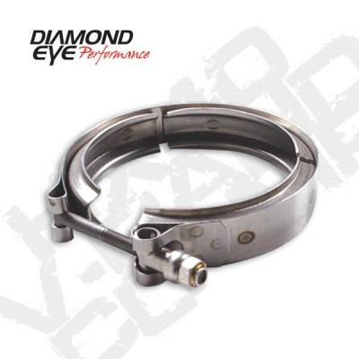 Diamond Eye - Diamond Eye VC375CHV65 V-band Clamp For Chevy 6.5L Turbo Stainless Steel