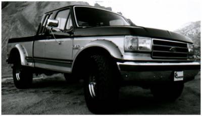 Bushwacker - Bushwacker 20018-11 Cut-Out Rear Fender Flares-Black