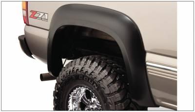 Bushwacker - Bushwacker 40104-02 Extend-a-Fender Rear Fender Flares-Black