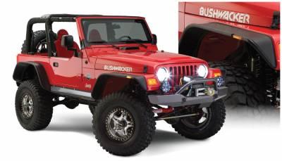 Bushwacker - Bushwacker 10920-07 Flat Style Front/Rear Fender Flares-Black