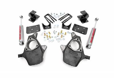 """Rough Country Suspension Systems - Rough Country 722.20 2.0""""[F]/4.0""""[R] Suspension Lowering Kit"""