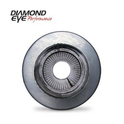 """Diamond Eye - Diamond Eye 470050 Muffler 4"""" Single In Single Out Stainless Perforated Packed 2"""