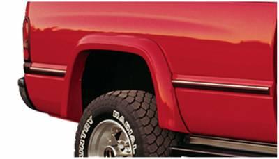 Bushwacker - Bushwacker 50010-11 Extend-a-Fender Rear Fender Flares-Black
