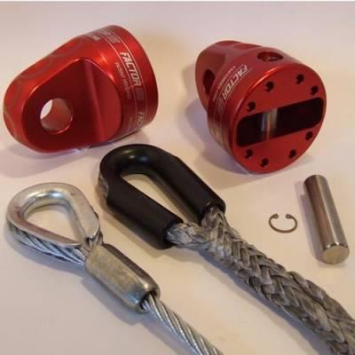 Factor 55 - Factor 55 00210-05 Prolink XXL Loaded Winch Shackle Mount Silver w/Titanium Pin